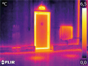 buitendeur thermogram