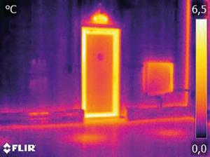 buitendeur thermogram