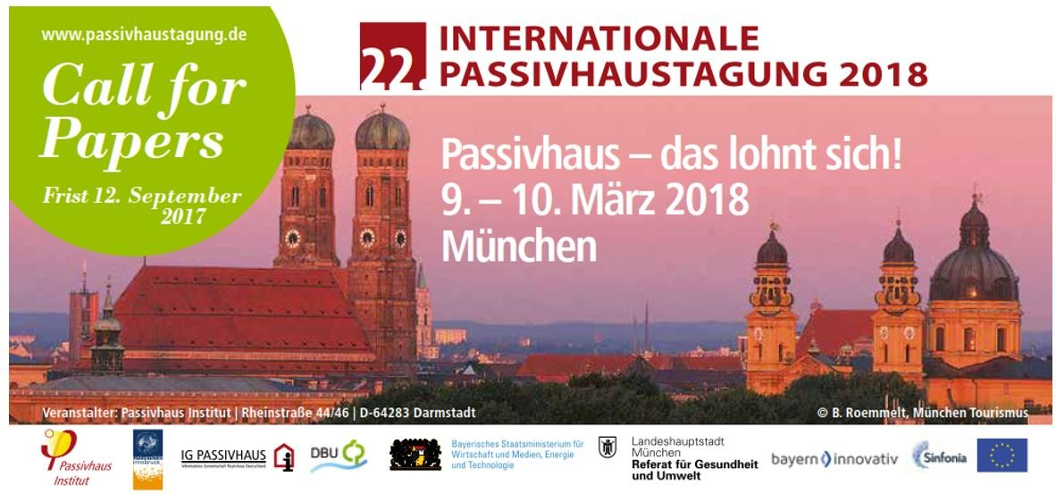 Call for papers – Passivhaus Tagung Munchen 2018